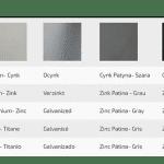 Kolory rynny Materiały rynny
