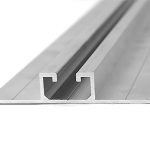 Profil aluminiowy 74,5 x 1,8 mm - mocowanie pionowe - szyna do blachy trapezowej - płaska