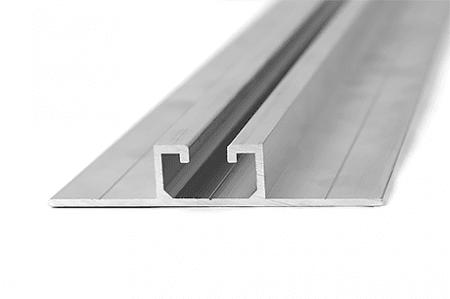 Aluminiumprofil 74,5 x 1,8 - vertikale Montage 1