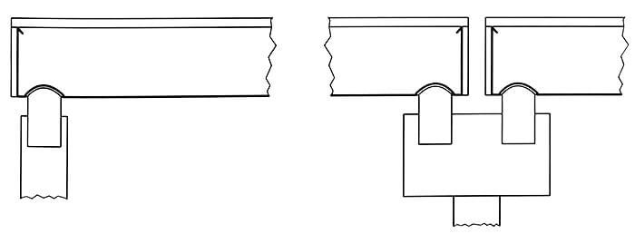 Połączenie rynny z rurą spustową za pomocą wpustu