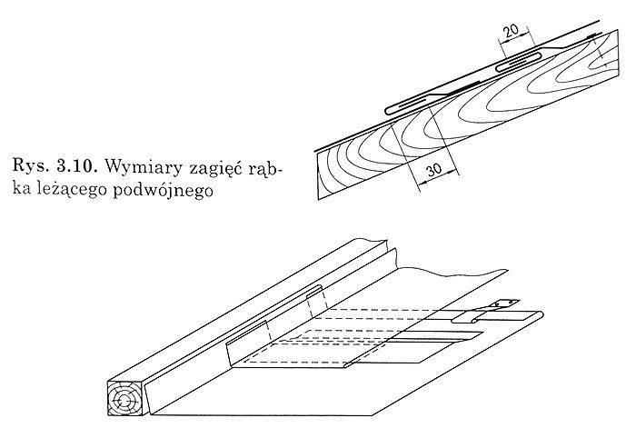 Zaginanie bocznej krawędzi rzędu połączonych wcześniej naiubek podwójny blach wcelu połączenia go znastępnym rzędem