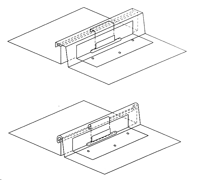 Fazy wykonania rąbka stojącego podwójnego mocowanego do podkładu łapką przesuwną