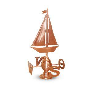 Żaglówka wiatrowskaz, róża wiatrów, wimpel żeglarstwo