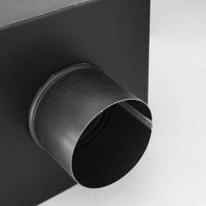 Kosz zbiornik ozdobny zlewowy kwadratowy - detal wylot rury