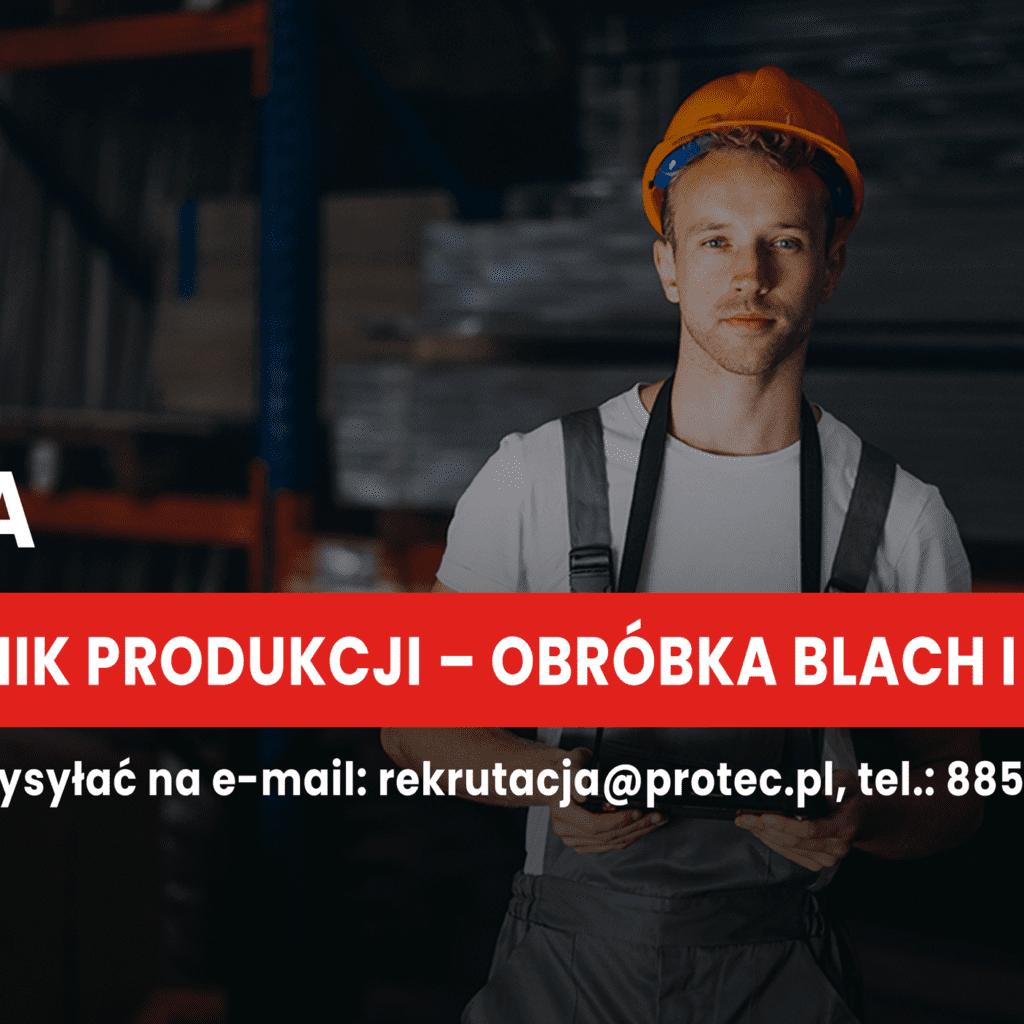 Pracownik Produkcji – obróbka blach i profili