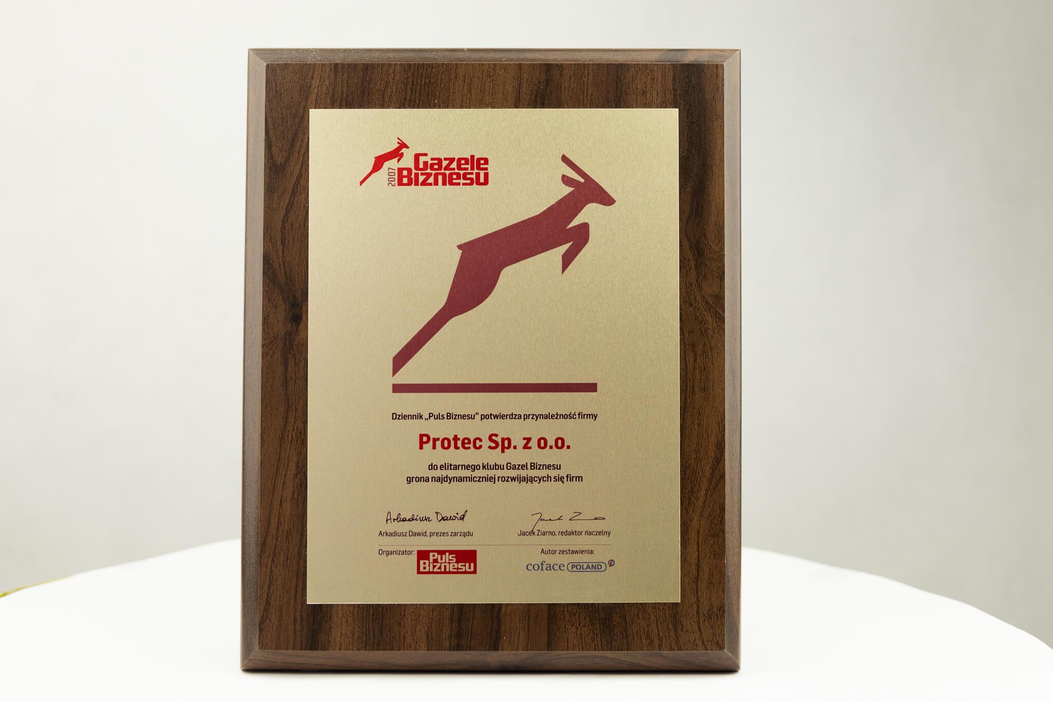 Protec Gazele Biznesu 2007