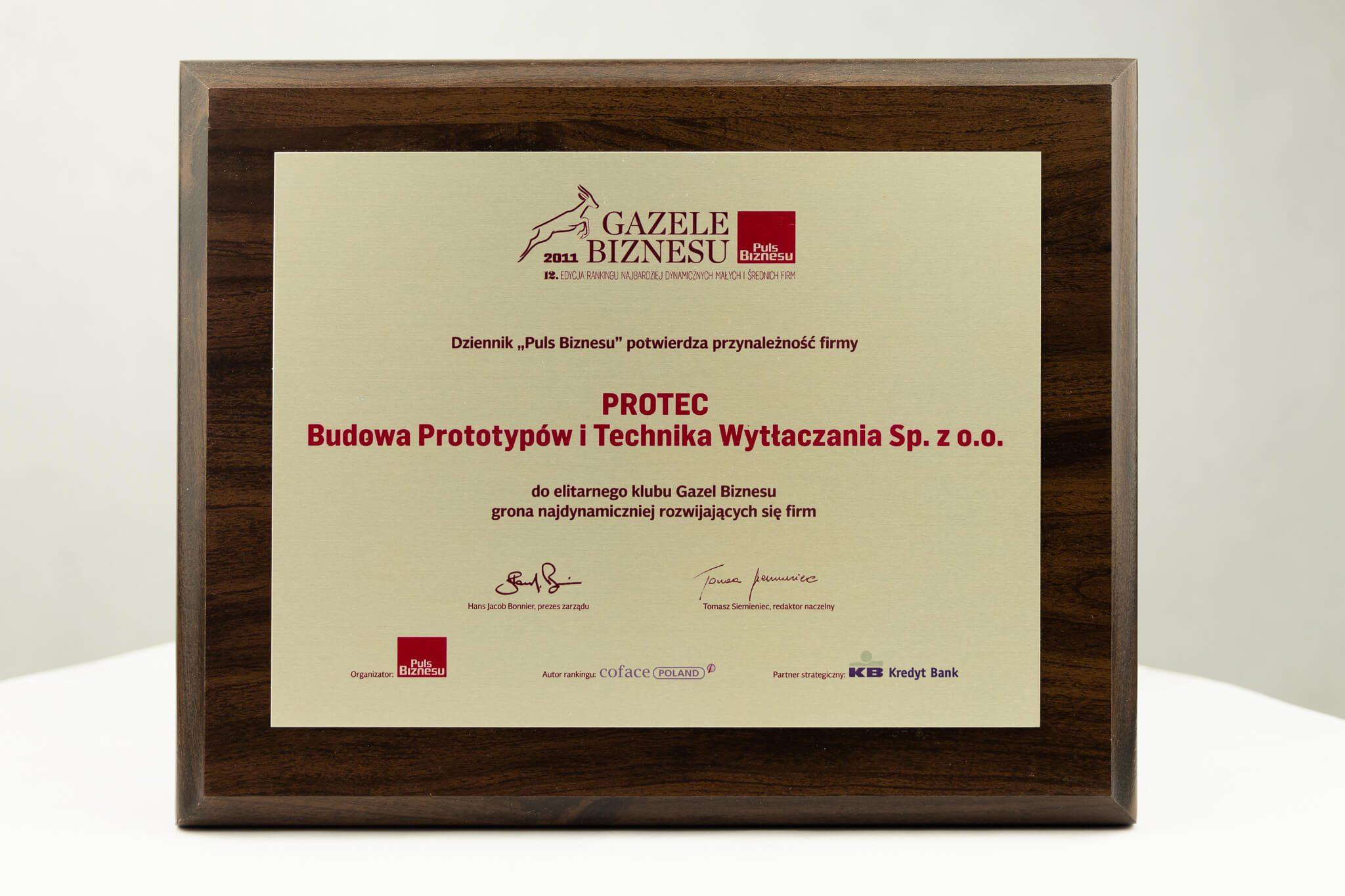 Protec Gazele Biznesu 2011